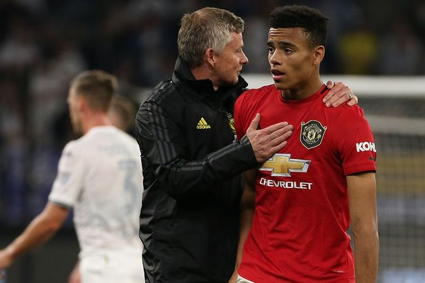Mason Greenwood And Ole Gunnar Solskjaer