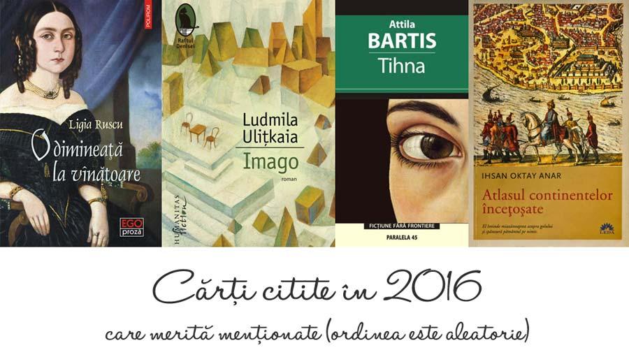 Carti preferate citite in 2016