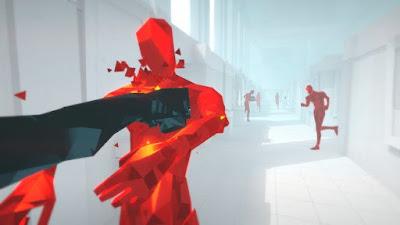 صورة لتجربة لعبة SUPERHOT في جهاز الحاسوب