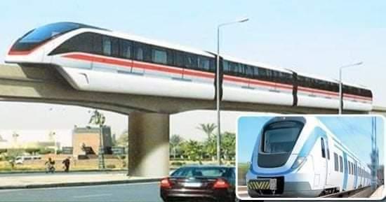 القطار الكهربائى او المترو المعلق   اهمية المشروع ونسبة الاعمال الانشائية التى تمت فية الى الان