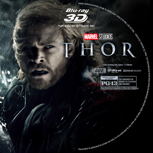 Thor 3D Bluray Label