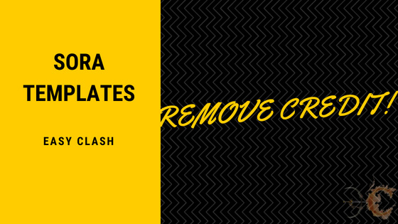 HOW TO REMOVE CREDIT FROM TEMPLATES | EASY CLASH