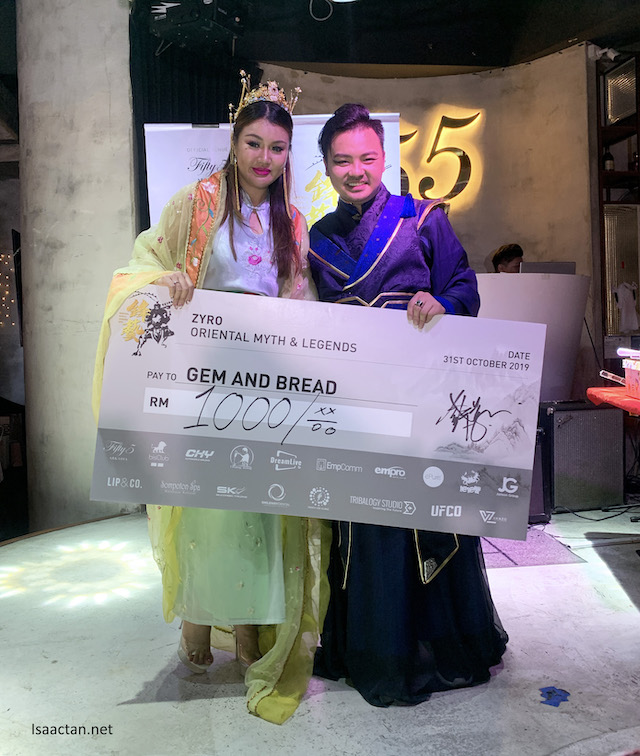 Donations and proceeds to Gem and Bread