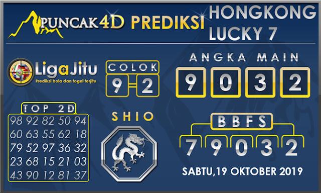 PREDIKSI TOGEL HONGKONG LUCKY7 PUNCAK4D 19 OKTOBER 2019