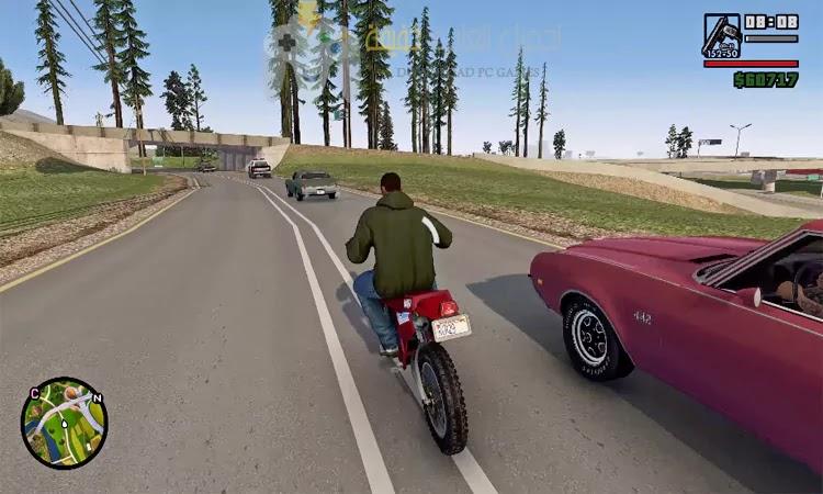 تحميل لعبة GTA San Andreas بحجم صغير