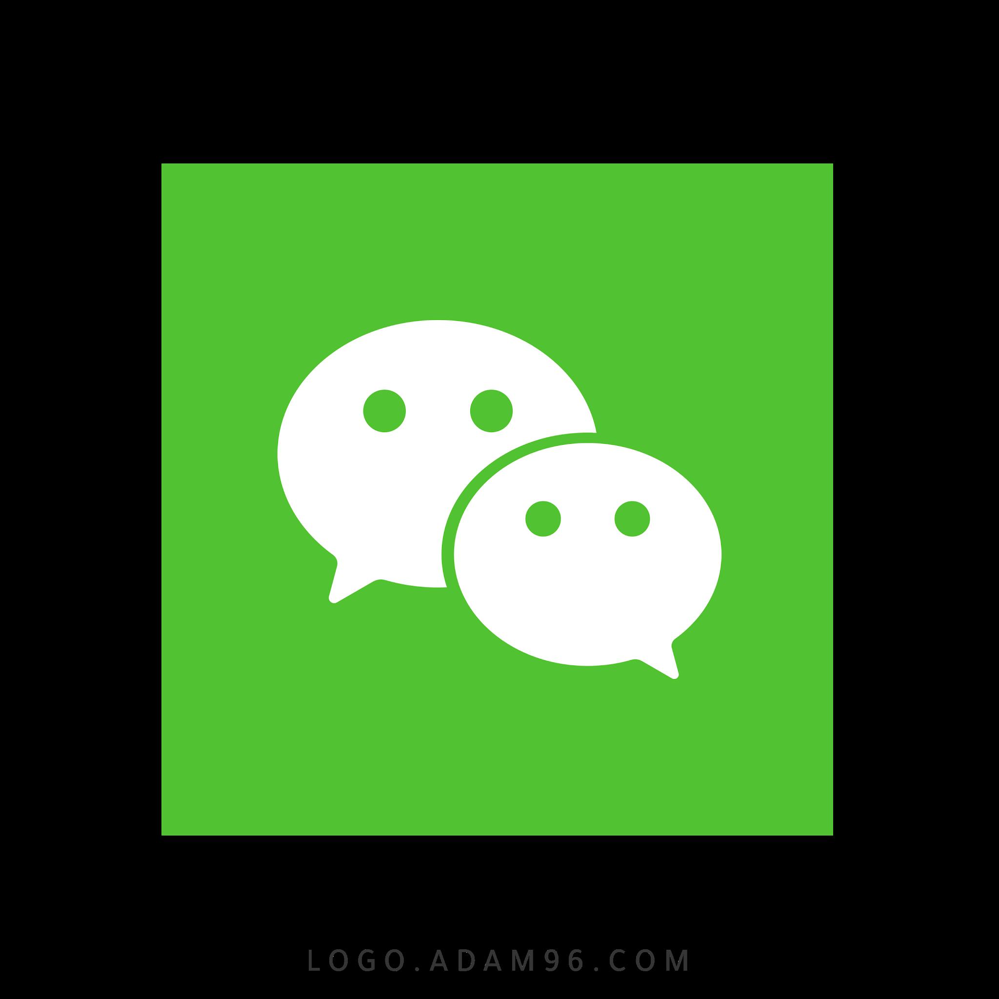تحميل شعار وي تشات الرسمي لوجو مربع بصيغة شفافة Logo Wechat PNG