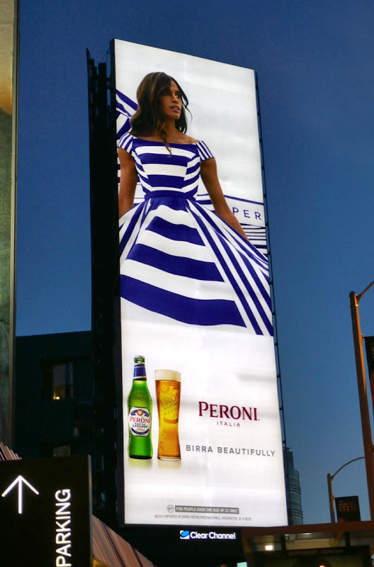 Peroni Birra Beautifully S19 billboard night