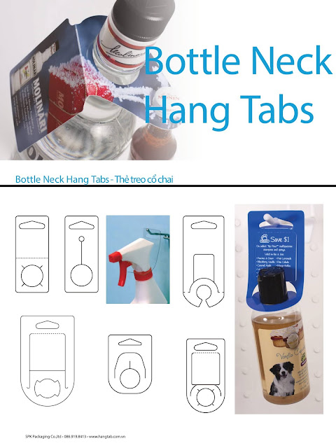 Bottle neck hang tabs - Thẻ treo cổ chai