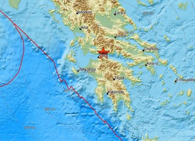 Σεισμός στην Ναύπακτο ταρακούνησε τον Κορινθιακό