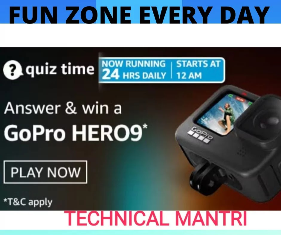 Amazon Quiz Answers For 27th April 2021win GoPro HERO9