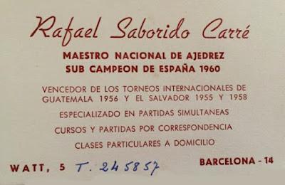 Tarjeta de presentación de Rafael Saborido Carré
