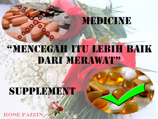 Perbezaan Ubat & Supplement (Vitamin)