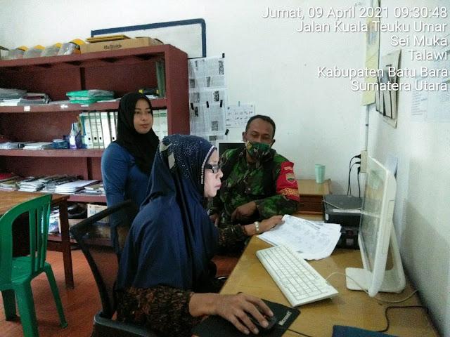 Laksanakan Komsos, Personel Jajaran Kodim 0208/Asahan Katakan Mengenai Pembaharuan Data Pendataan Warga