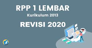 RPP 1 Lembar K13 Revisi 2020 Mapel Aqidah Ahklak Kelas 10,11,12 Khusus MA