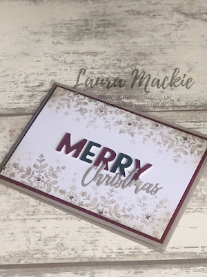 Stampin up Snowflake Wishes
