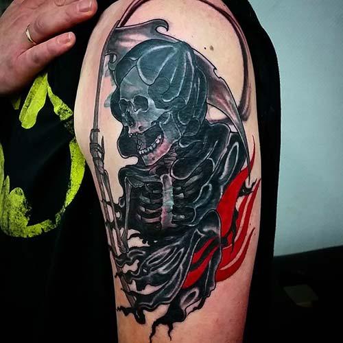 grim reaper tattoos upper arm azrail dövmeleri kol