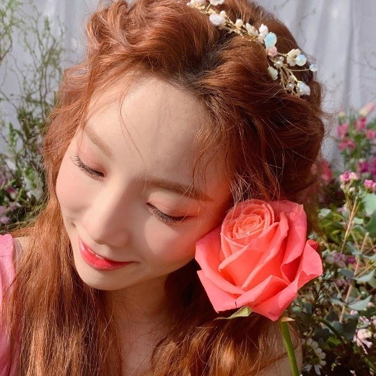 Girls Generation Taeyeon looks as prettier as the flower with the spring vibe in the latest Instagram Update.