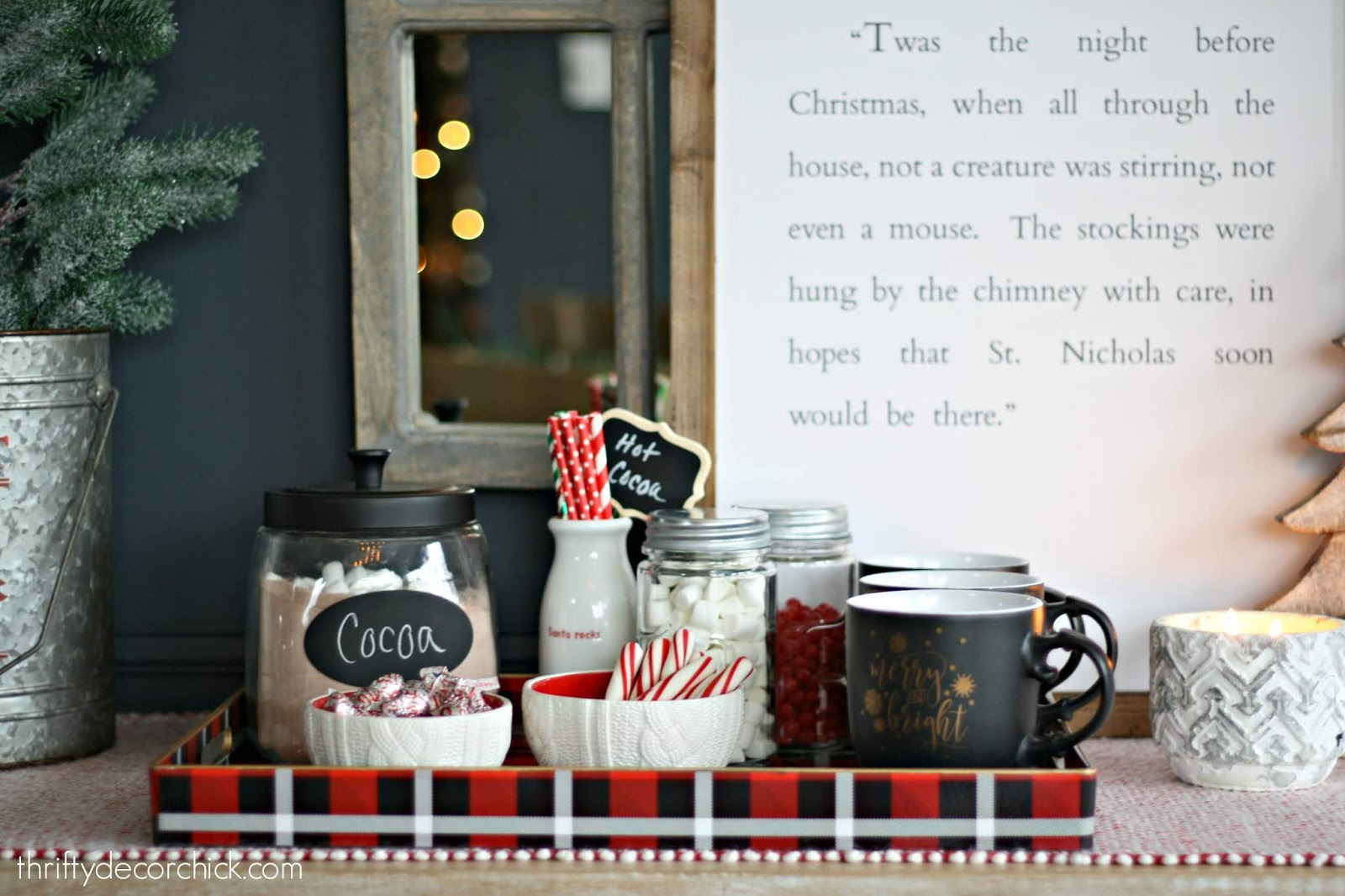 Hot chocolate station for the holidays