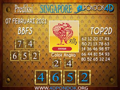 Prediksi Togel SINGAPORE PONDOK4D 07 FEBRUARI 2021