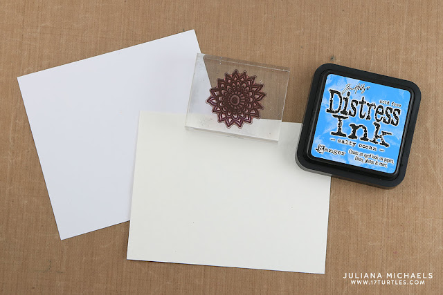 Stamping with the back side of your clear stamps tutorial by Juliana Michaels