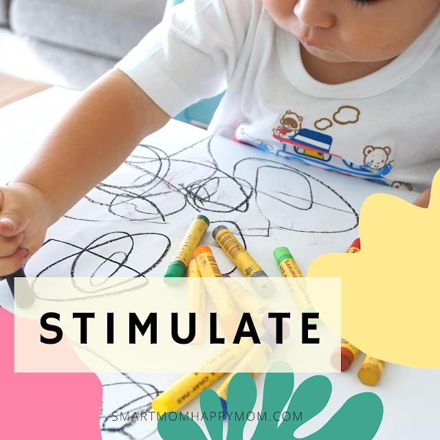 stimulasi anak dengan kecerdasan visual spasial.