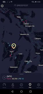 DITO Telecom - Visayas Speedtest.net Map