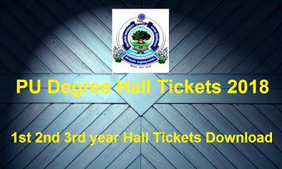 Manabadi PU Degree Hall Tickets 2018 Download, Schools9 PU UG Hall Tickets 2018