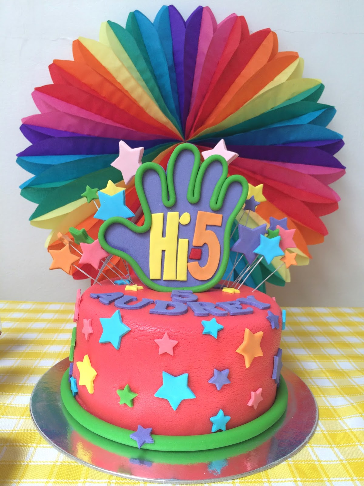 We Super Love This Cake By Sweets Cha Everything Turned Out Perfect From The Butter Inside And Stars Hi5 Hand Logo Outside