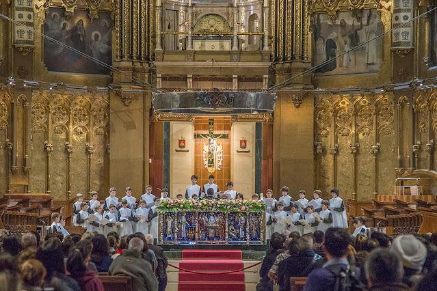 montserrat monastery Barcelona Spain travel tourism photography  choir