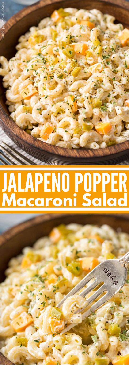 Jalapeno Popper Macaroni Salad #lunch #dinner #pasta #salad #brunch