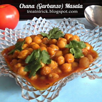 Chana (Garbanzo) Masala Recipe @ treatntrick.blogspot.com