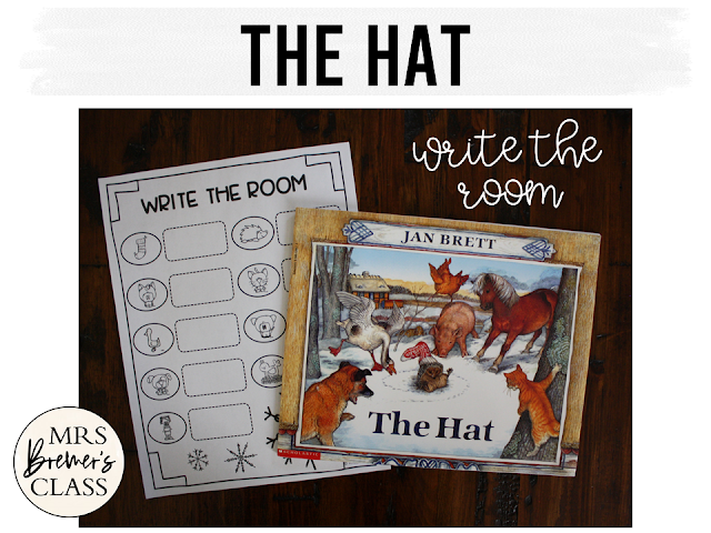 The Hat book study unit with companion activities and craftivity for a winter theme in K-1