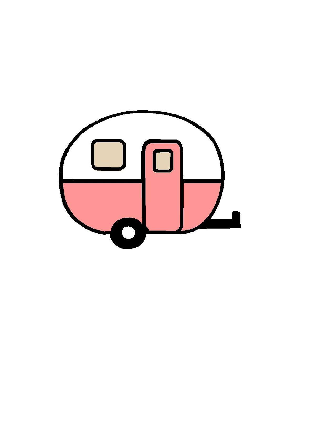 Closet Crafter: Free Vintage Camper Silhouette Design File
