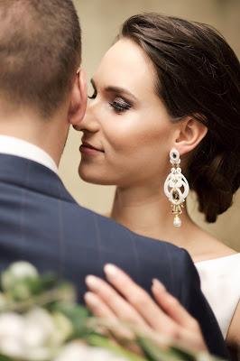 sutaszowe kolczyki ślubne