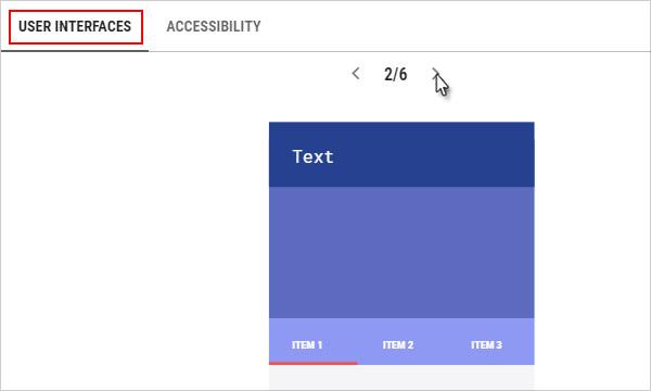 User interfaces tab