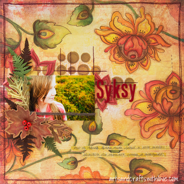 Autumn themed scrapbooking layout for Paperilla DT