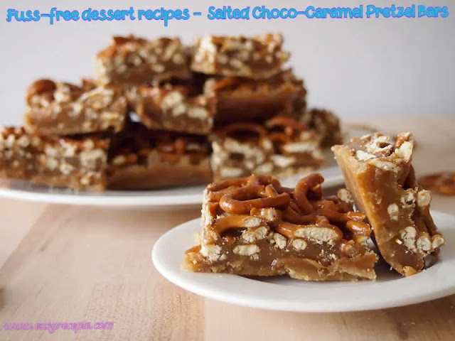 Fuss-free dessert recipes - Kids' Favorite Salted Choco-Caramel Pretzel Bars