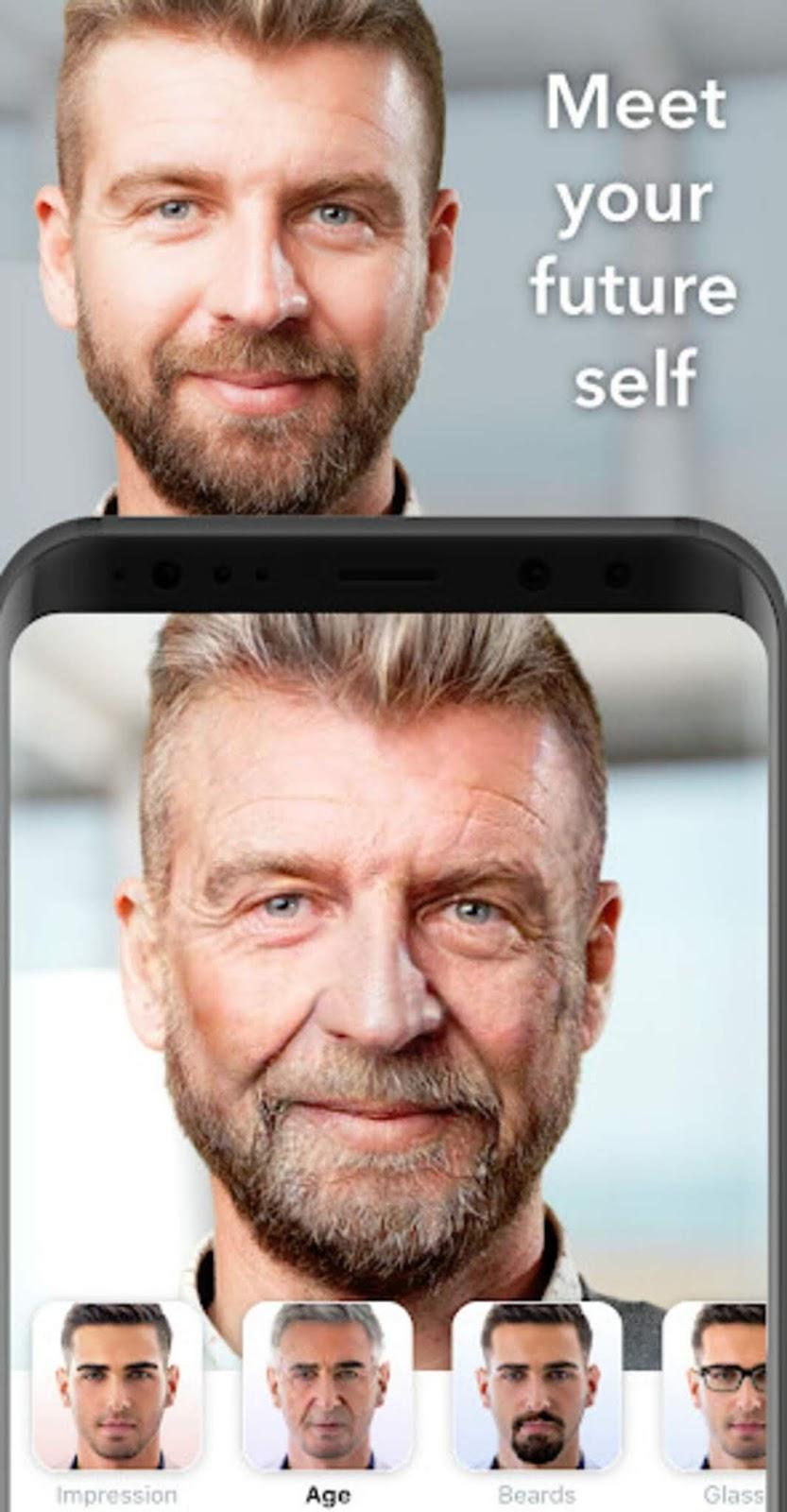 تنزيل برنامج تغير ملامحي الى رجل كبير مسن وتغير الصور التي في هاتفك ايضاً