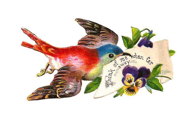 antique free bird graphic