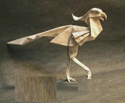 Origami T-Rex Dinosaur Raptor by Yakomoga. 折り紙恐竜T-Rex ... | 359x438
