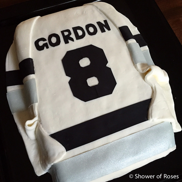 Shower Of Roses A Hockey Jersey Birthday Cake