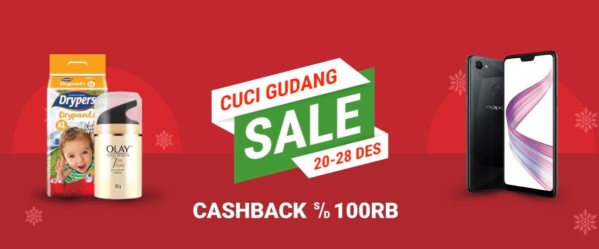 #Shopee - Promo Cashback s.d 100K Cuci Gudang Sale (s.d 28 Des 2018)