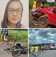 Colisão frontal entre carro e moto deixa uma mulher morta entre Bernardo do Mearim e Igarapé Grande.