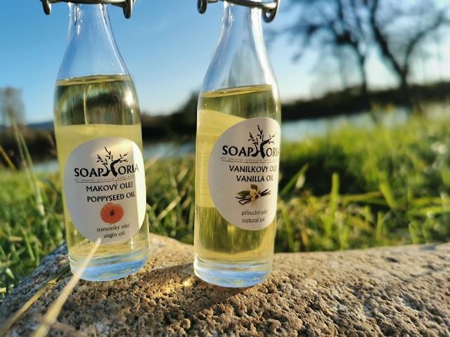 Recyklovateľné balenia olejov Soaphoria