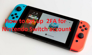 How to set up 2-step authentication (2FA) for the Nintendo Switch account