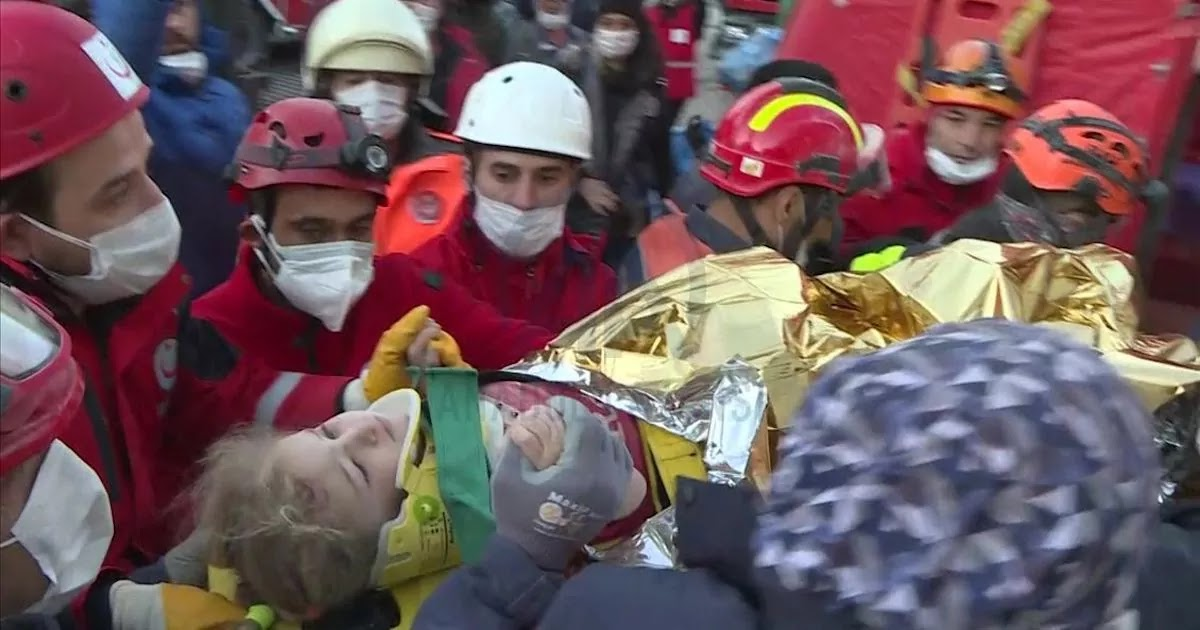 3-Year-Old Girl Is Rescued In Turkey After Being Trapped Under Collapsed Building For 65 Hours After Earthquake