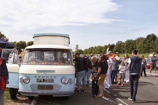 Big queue in the Little Coffee Camper - the mobile coffee van in Essex