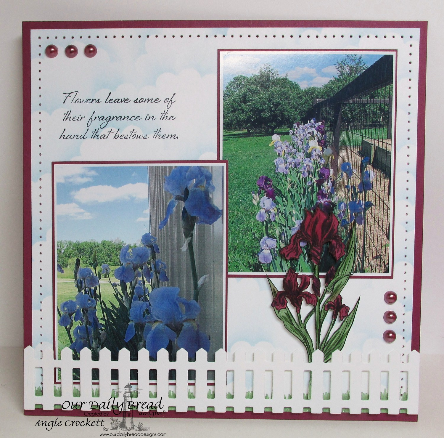 Stamps - Our Daily Bread Designs Iris, ODBD Custom Fence Die