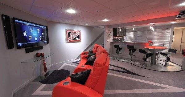 Salas decoradas en s tanos salas con estilo for Jugendzimmer im keller
