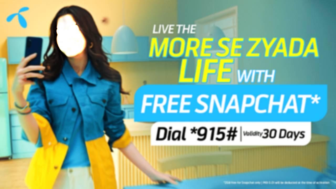 Now Enjoy Free Snapchat with Telenor